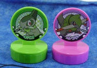 Pokemon Retsuden Stamps Axew and Fraxure