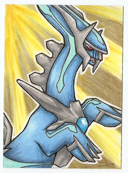 Dialga ACEO by Shadowmoth