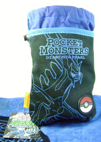 Dialga Blue and Black Cloth Pouch