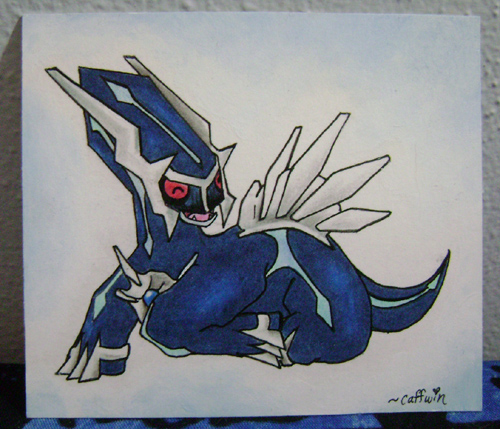 Dialga Art by Caffwin