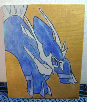 Dialga Painting by Callyfin