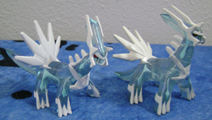 Dialga Clear Tomy Monster Collection Figures (Original and 12th Movie)