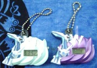 Dialga Digital Clock Keychains