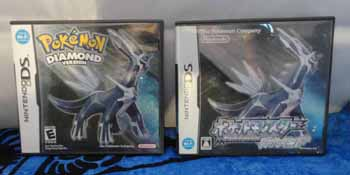 Pokemon Diamond American and Japanese Versions