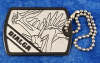 Pokemon Dialga Dog Tag Gachapon Toy
