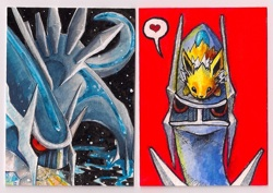 Dialga ACEOs by Keymonster