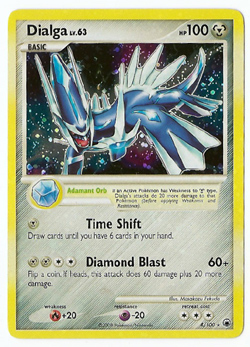 Pokemon Dialga Majestic Dawn Holo Card