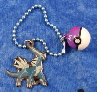 Pokemon Dialga Enameled Keychain with Pokeball