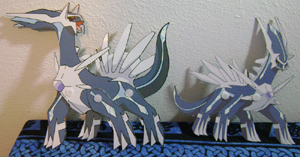 Dialga Moving Paper Toys