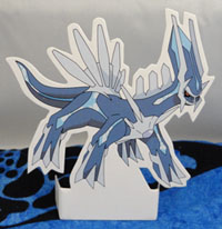 Dialga Stand Up Paper Target Toy