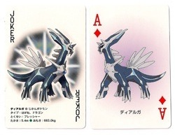 Dialga Playing Cards (Ace of Diamonds and Joker)