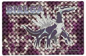 Dialga Reflective Purple Sticker