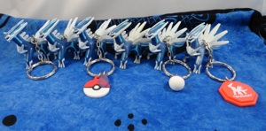 Pokemon Dialga UFO Figure Keychains (6)