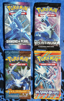 Pokemon TCG Booster Packs featuring Dialga (4)