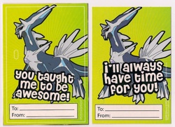 Dialga Student and Teacher Valentine Set