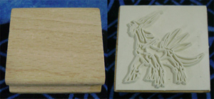 Pokemon Dialga European Wooden Stamp