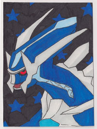 Dialga ACEO by Wutastic