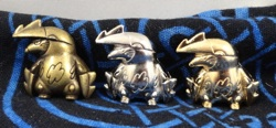 Pokemon Excadrill Metal Figures (3)