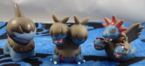 Pokemon Deino Zweilous and Hydreigon Kids Figure