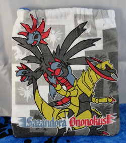 Pokemon Hydreigon & Haxorus Drawstring Bag