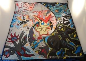Pokemon Movie Reshiram/Zekrom Handkerchief