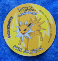 Jolteon Plastic Pog from Argentina