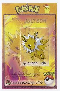 Jolteon Grenada Postage Stamp