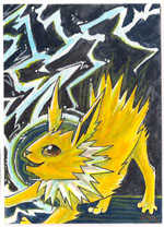 Jolteon ACEO by Keymonster