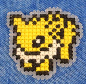 Jolteon Cross Stitch Magnet