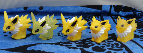 Jolteon Kids Figures (5) with Clears