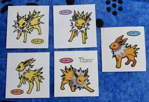 Jolteon Pokemon Pan Stickers Decochara Seal (5)