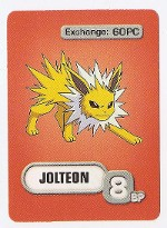 Red Jolteon Game Card