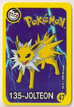 Jolteon Yellow Spanish Card