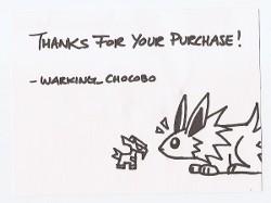 Jolteon Warking_Chocobo Doodle