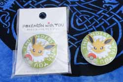 Jolteon With You Badge/Pin