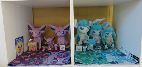 Glaceon and Espeon Pokemon Toys
