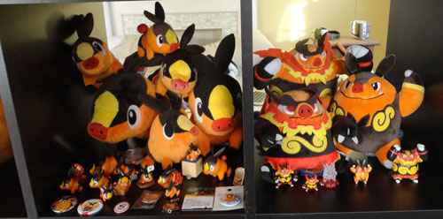 Pokemon Toys of Tepig, Pignite, and Emboar