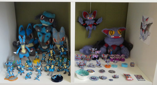 Lucario and Gliscor Pokemon Toys