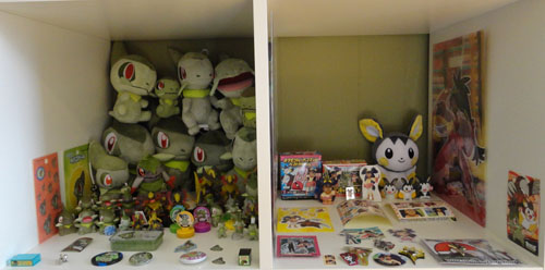 Pokemon Toys of Axew, Fraxure, Haxorus, and Emolga