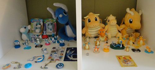 Pokemon Toys of Dratini, Dragonair, and Dragonite