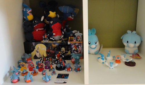 Pokemon Toys of Gible, Gabite, Garchomp, and Altaria