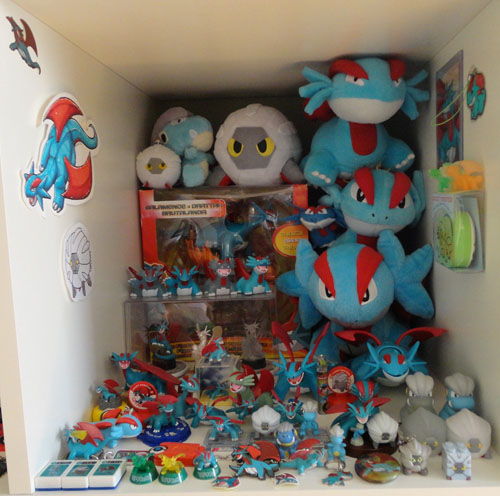 Pokemon Toys of Bagon, Shelgon, and Salamence