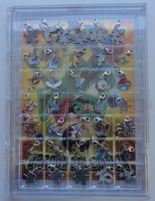 Pokemon Center Dragon Type Metal Charms in case