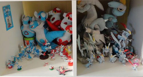 Pokemon Toys of Latias, Latios, and White Kyurem