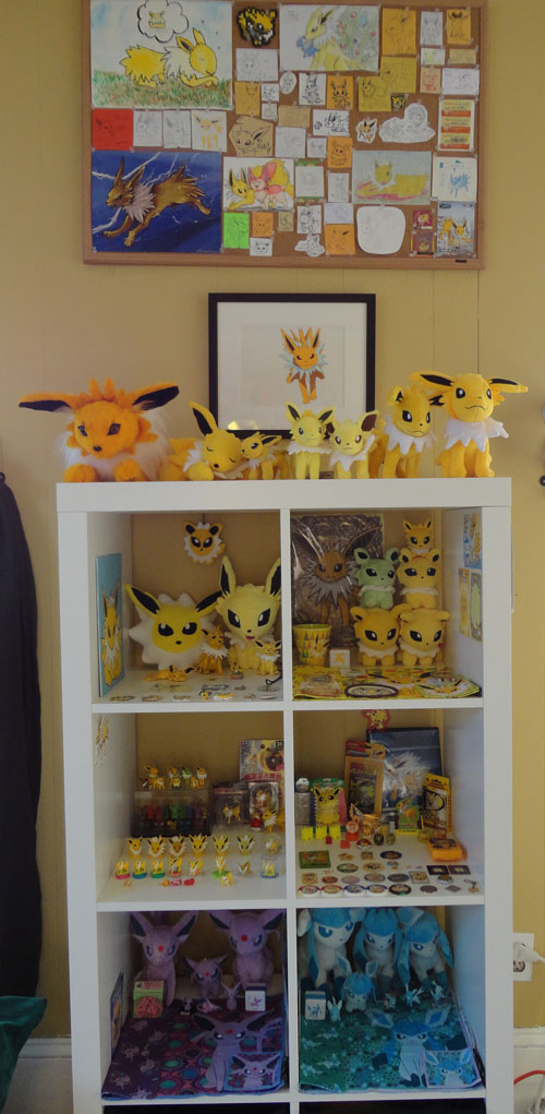 Pokemon Toys of Jolteon, Espeon, and Glaceon