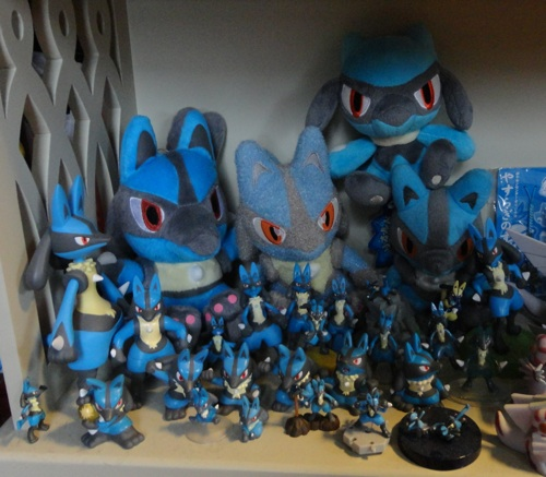 Pokemon Lucario Plush and Figure Collection