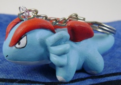 Pokemon Salamence Clay Keychain