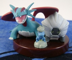 Pokemon Bagon Shelgon Salamence Zukan 1/40 Scale Figures