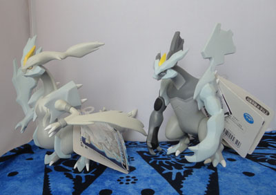 Pokemon Black Kyurem and White Kyurem DX Tomy Figures
