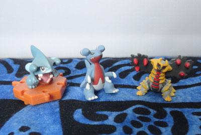 Pokemon Gible, Gabite, and Giratina Figures